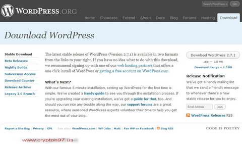 Upgrade ke WordPress 2.7.1