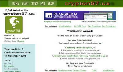 Pasang iklan atau alamat situs ke dalam 100 Iklanbaris 60 direktori link GRATIS