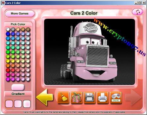 Cars 2 Color Permainan Mewarnai Mobil Yang Ada Di Film Kartun Cars 2