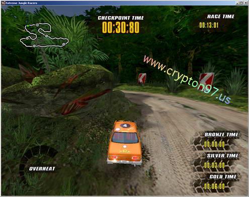 Dan pada gambar dibawah ini merupakan tampilan di saat akan memulai permainan games Extreme Jungle Racers.