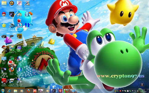 Themes Mario bros untuk MS Windows 7