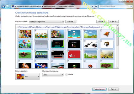 Windows 7 themepack mario bros, HD quality