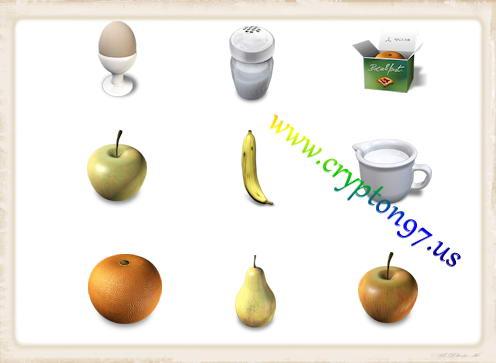Kumpulan icons bergambarkan object yang ada pada saat sarapan