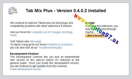 Tab Mix Plus - Extensions mozilla firefox berguna menambahkan fasilitas tambahan pada tab browser firefox
