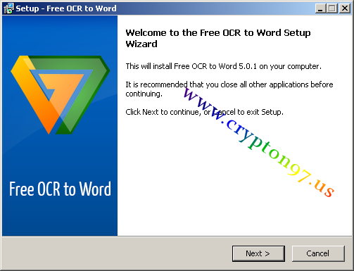 Welcome to the Free OCR to Word setup wizard