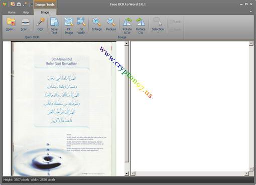 Proses scanning selesai maka hasil scanning dapat di lihat pada sebelah layar kiri di dalam program Free OCR to Word