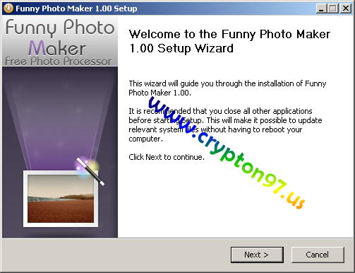 Welcome to the Funny Photo Maker setup wizard