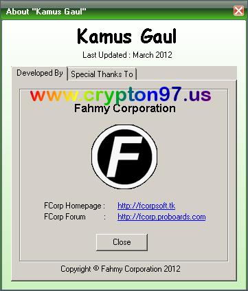 Kamus Gaul - Software buatan karya anak bangsa indonesia tentang kamus berisikan kata kata dalam bahasa gaul