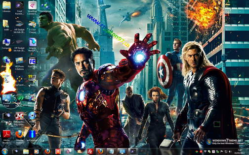 Themes windows 7 the avengers