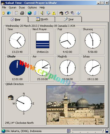 Salaat Time www.crypton97.us 2 Salaat Time   Free software displays information about the time of prayer 5 times a day