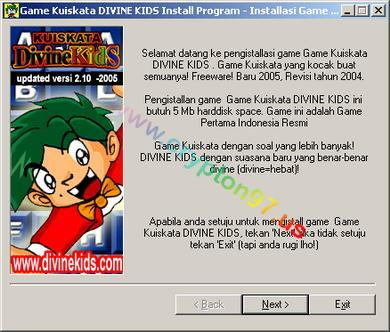 Game Kuiskata DIVINE Kids - Permainan komputer menebak kata yang tersembunyi