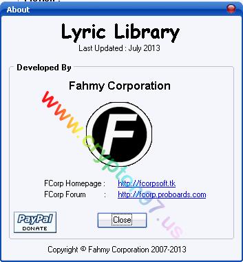 Lyric Library update juli 2013 - Lebih dari 6000 (enam ribu) lirik lagu bahasa Inggris, India, Indonesia, Jepang & Korea