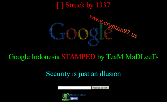 Google.co.id - Google Indonesia kena Hack