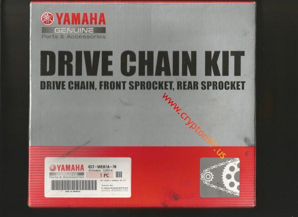Drive Chain Kit baru untuk yamaha crypton menjelang ulang tahun motor ke 18 tahun :)