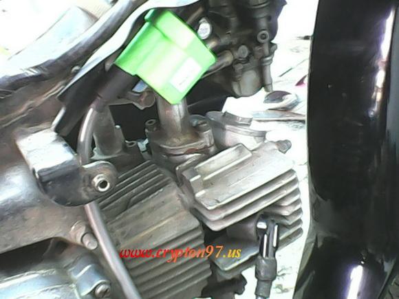 Coil Protec Ultimate Regular terpasang di Yamaha Crypton