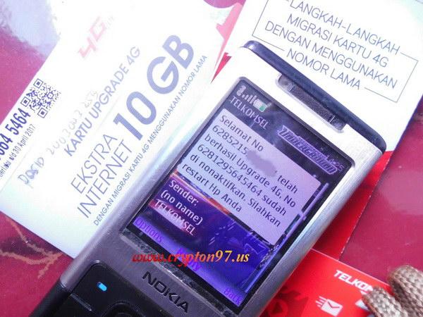Upgrade Kartu Sim Card As 3g Menjadi 4g Lte Dengan Kartu Upgrade