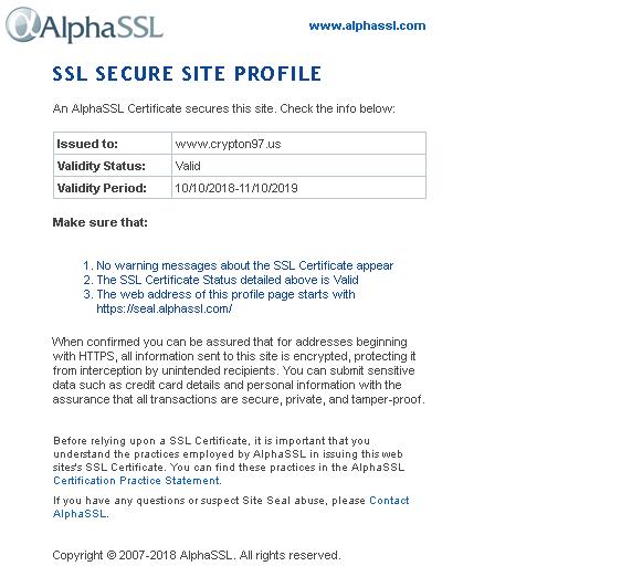 Pasang AlphaSSL sebagai ganti SSL let's encrypt supaya aman & SEO lebih baik