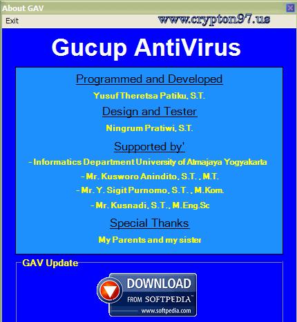 Gucup AntiVirus 3.3.6 - Antivirus produk dalam negeri