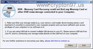 DDR Memory Card Recovery (DEMO)
