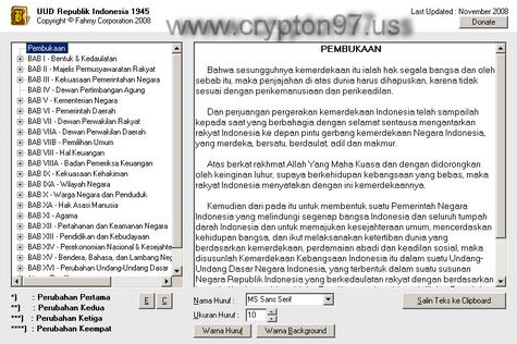 Software gratis Undang Undang Dasar Republik Indonesia 1945