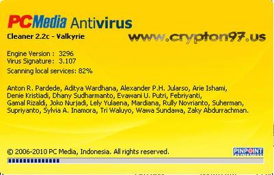 PCMAV 2.2c - Antivirus lokal dari pcmedia edisi Januari 2010